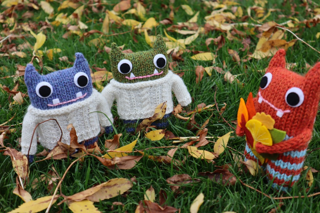 Aran Beasties and Autumn Beastie - CrawCrafts Beasties