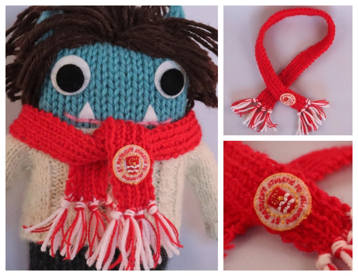 Football Scarf - Commissions - CrawCrafts Beasties