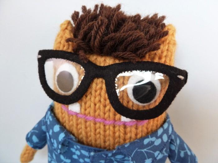 Mr Husband Beastie in Glasses - CrawCrafts Beasties