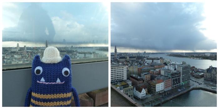 View from the MAS, Antwerp - CrawCrafts Beasties