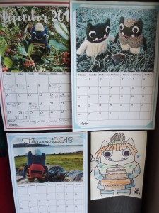 Beastie Calendar on the Wall - CrawCrafts Beasties