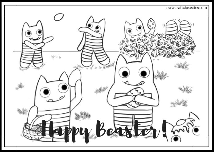 Beaster Image - Free Colouring Page by CrawCrafts Beasties