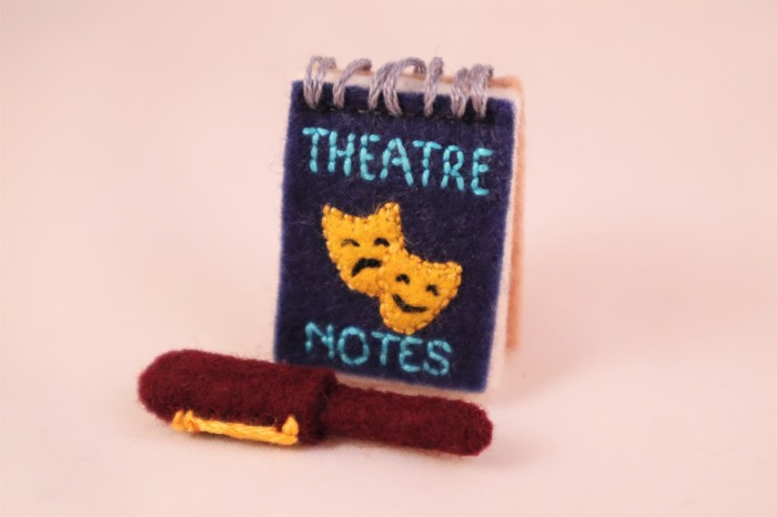 Theatre Notebook and Pen - Beastie Accessories by CrawCrafts Beasties