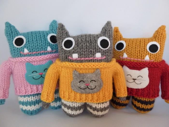 Cat Sweater Beasties, by CrawCrafts Beasties