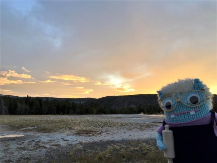 June Beastie in Yellowstone - R crawford/CrawCrafts Beasties