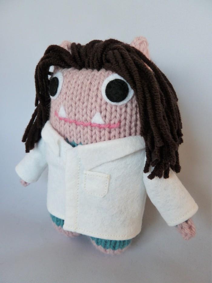 Scientist Beastie, Ready for Work! Handmade Personalised Gift by CrawCrafts Beasties