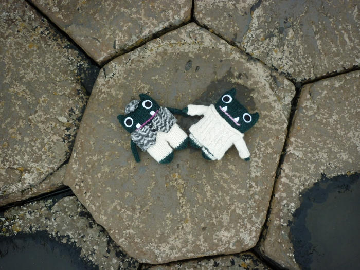 Paddy and Plunkett on the rocks - H Crawford/CrawCrafts Beasties