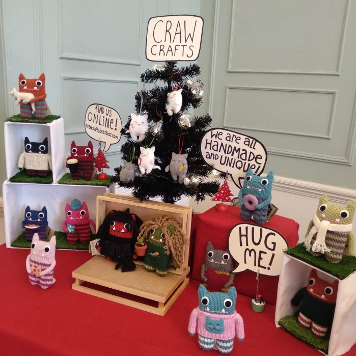 Christmas on the Square Stall - CrawCrafts Beasties