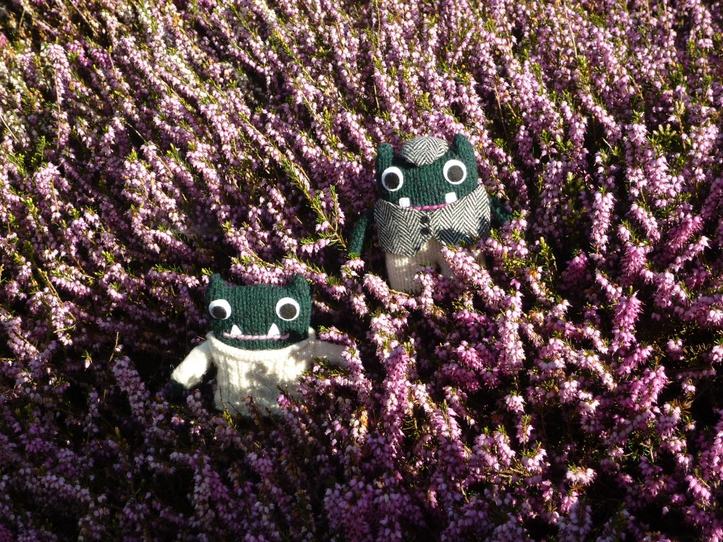 Paddy and Plunkett in the Heather Bank - H Crawford/CrawCrafts Beasties