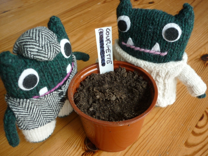 Planting Seeds - Paddy and Plunkett - H Crawford/CrawCrafts Beasties