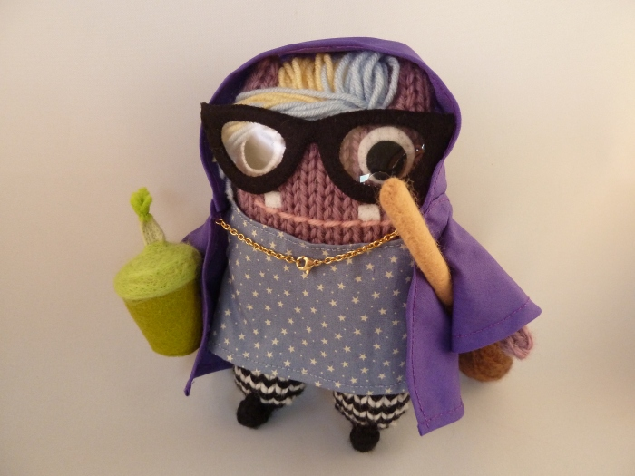 Witchy Beastie With Accessories - Custom Handmade Monsters by CrawCrafts Beasties