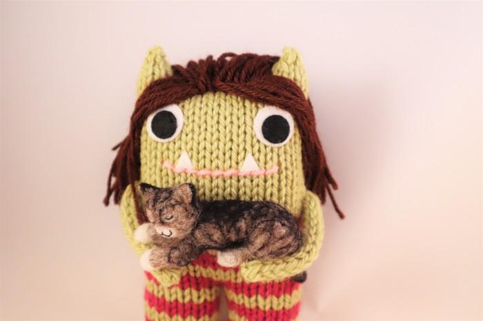 JuliaMusings Beastie with Kitty - CrawCrafts Beasties