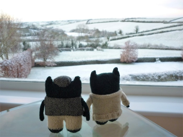 View From Beastie Towers in the Snow - H Crawford/CrawCrafts Beasties