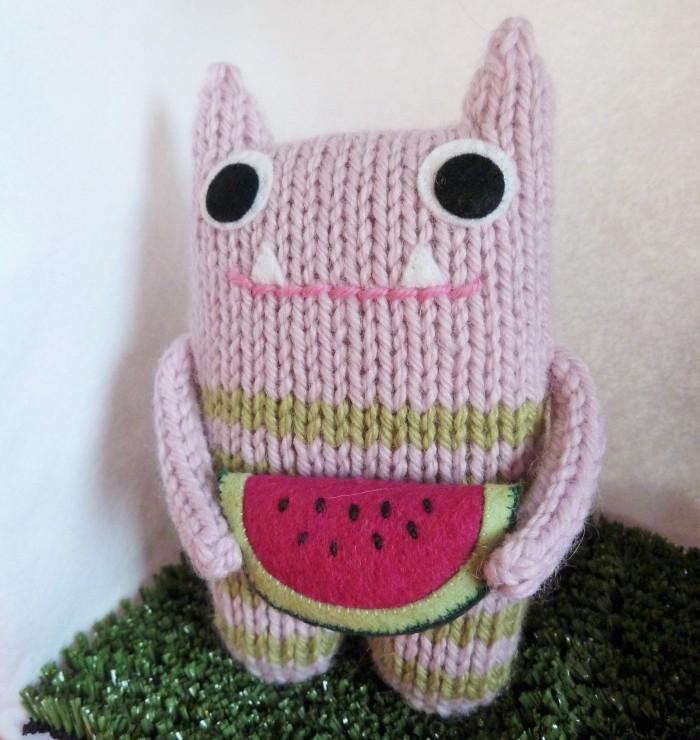 Watermelon Beastie - CrawCrafts Beasties