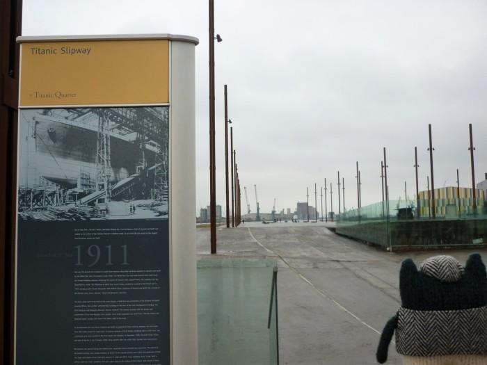 Plunkett at Titanic Slipway - CrawCrafts Beasties