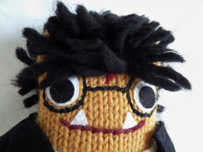 Harry Potter Beastie, with Scar, Glasses and Hair - CrawCrafts Beasties