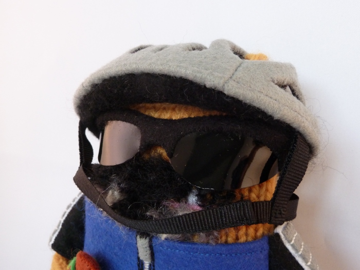 Cyclist Beastie's Shades and Helmet, by CrawCrafts Beasties