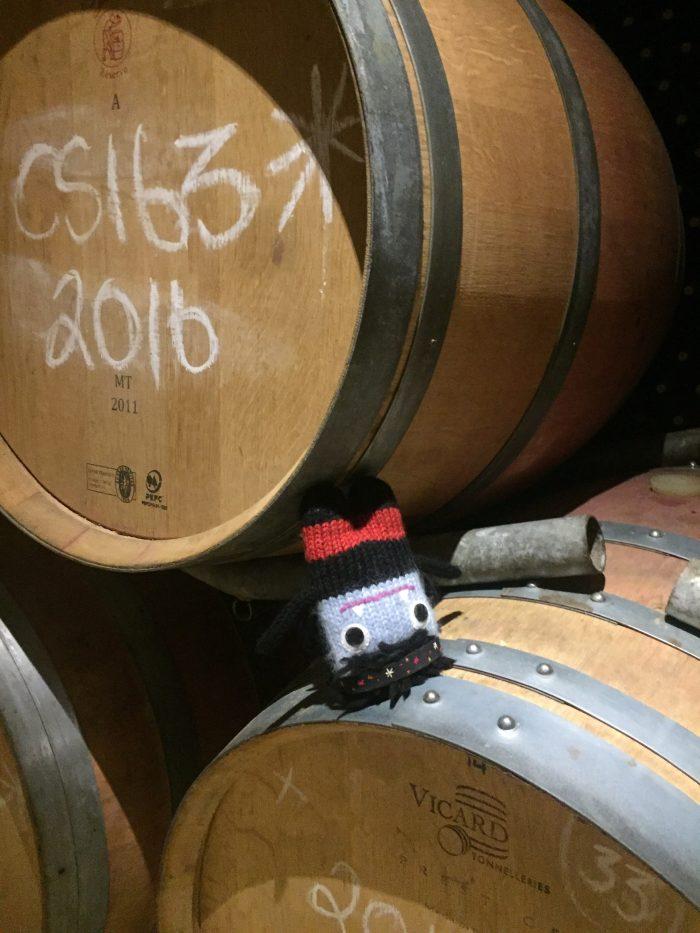 Too much wine, Garcia Beastie! S Allen/CrawCrafts Beasties