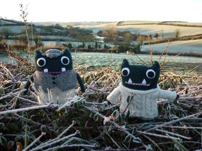 Paddy and Plunkett in Winter - CrawCrafts Beasties