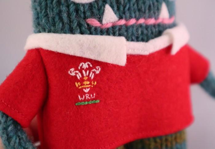 Rugby Shirt WRU Logo -Wales Rugby Jersey - CrawCrafts Beasties