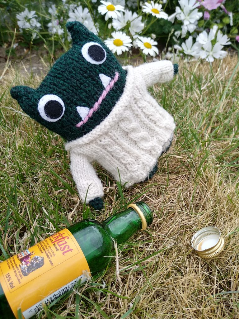 Paddy Samples some Buckfast - CrawCrafts Beasties