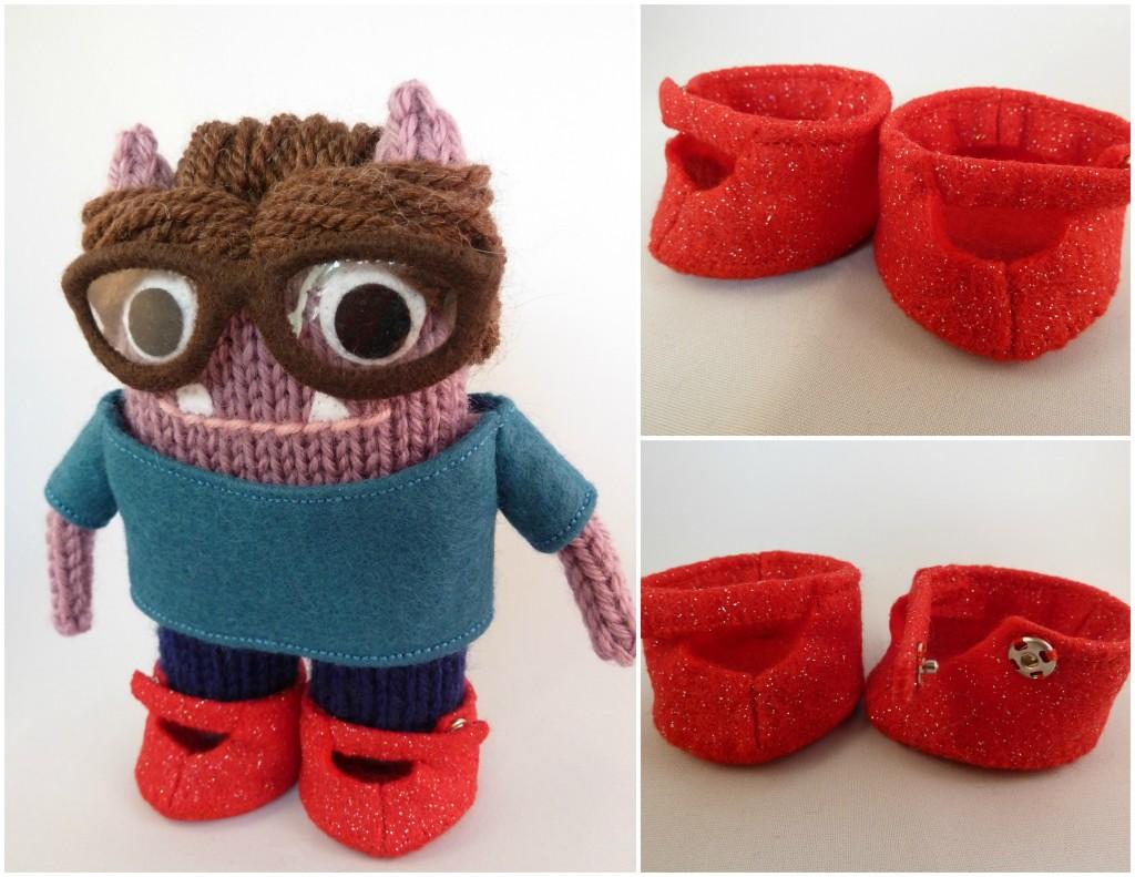 Ruby Slippers for Beastie Feet - CrawCrafts Beasties