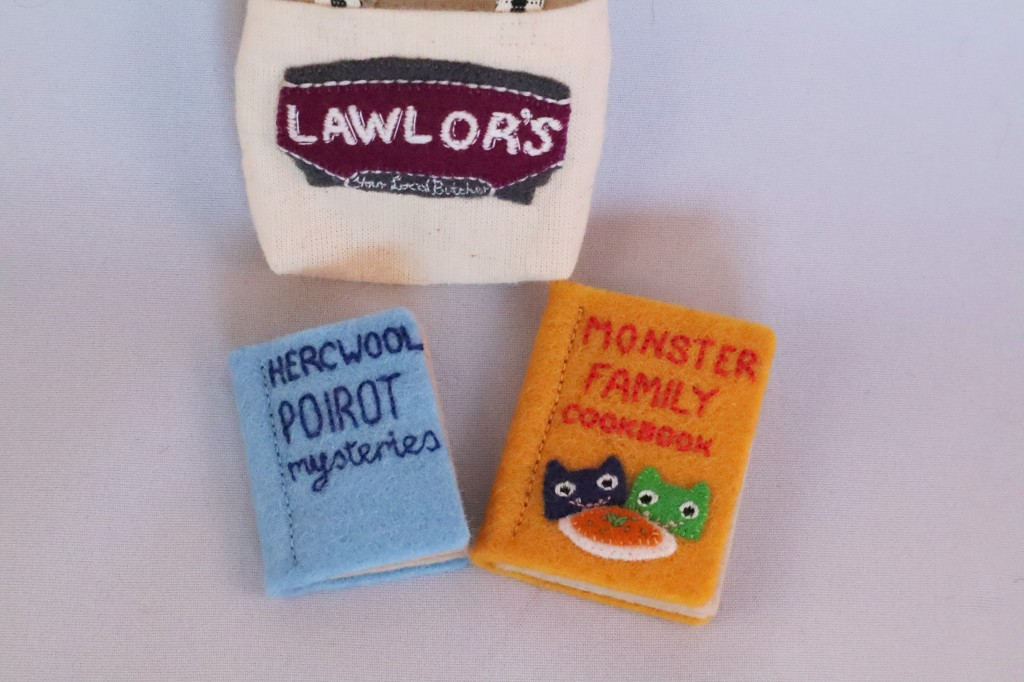 Books and Tote Bag - CrawCrafts Beasties