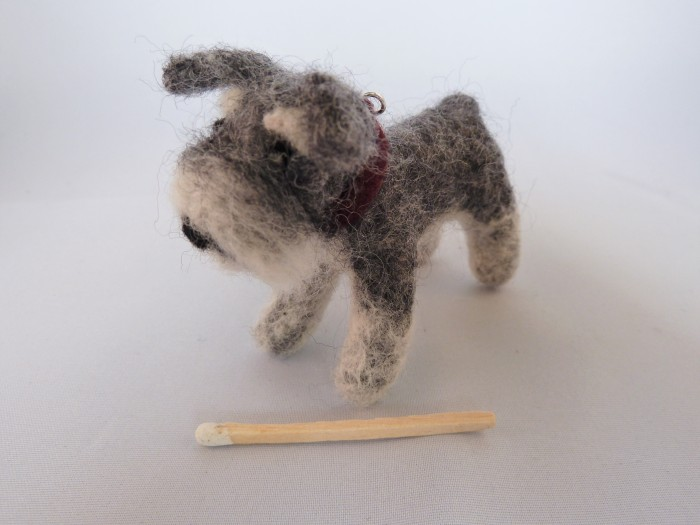 Mikelet, the Super-Miniature Schnauzer, by CrawCrafts Beasties