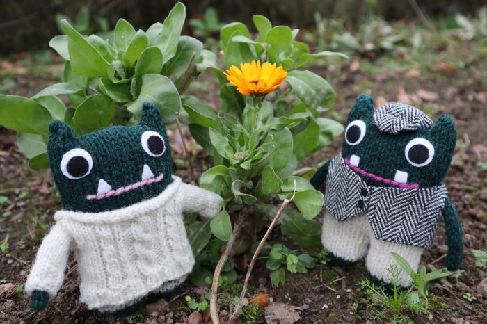 Paddy, Plunkett and a Random Marigold - CrawCrafts Beasties