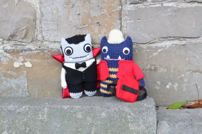 Dracula Beastie and Explorer Beastie - CrawCrafts Beasties