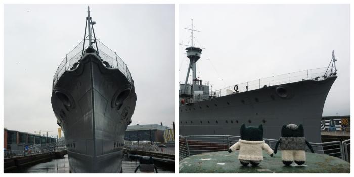 HMS Caroline in Titanic Quarter Belfast - CrawCrafts Beasties