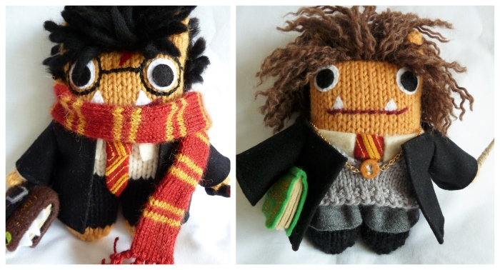 Harry Potter and Hermione Beasties by CrawCrafts Beasties