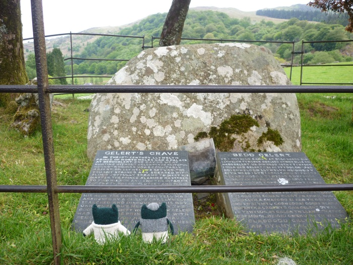 Paddy and Plunkett at Gelert's Grave - H Crawford/CrawCrafts Beasties