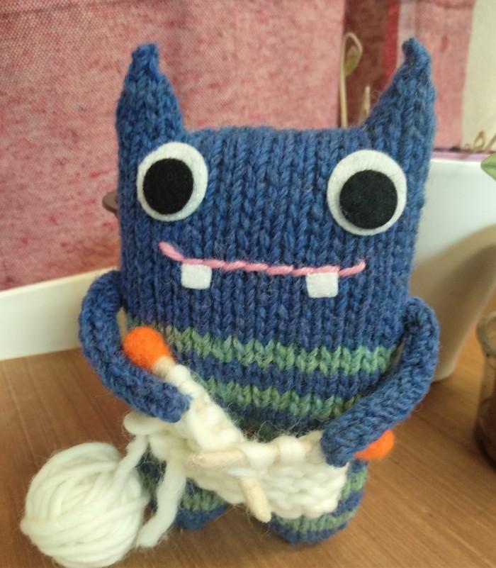 Knitter Beastie - Will travel for knitting! CrawCrafts Beasties