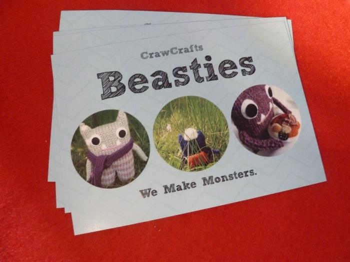 Shiny New Promotional Postcards - CrawCrafts Beasties