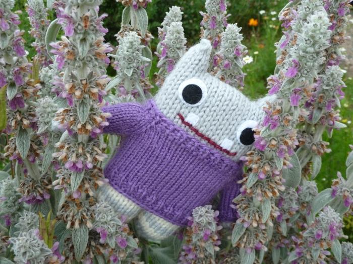 Purple Sweater, Purple Flowers! CrawCrafts Beasties