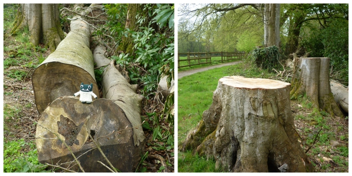 Felled Trees - Paddy and Plunkett - Bluebells - CrawCrafts Beasties