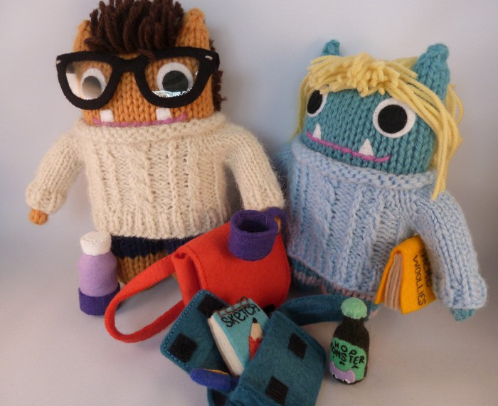Tammie and Mr Husband Beasties, Plus Accessories! Birthday Gift Commission by CrawCrafts Beasties