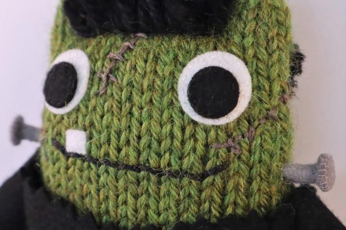 FrankenBeastie's Lovely Green Face - CrawCrafts Beasties