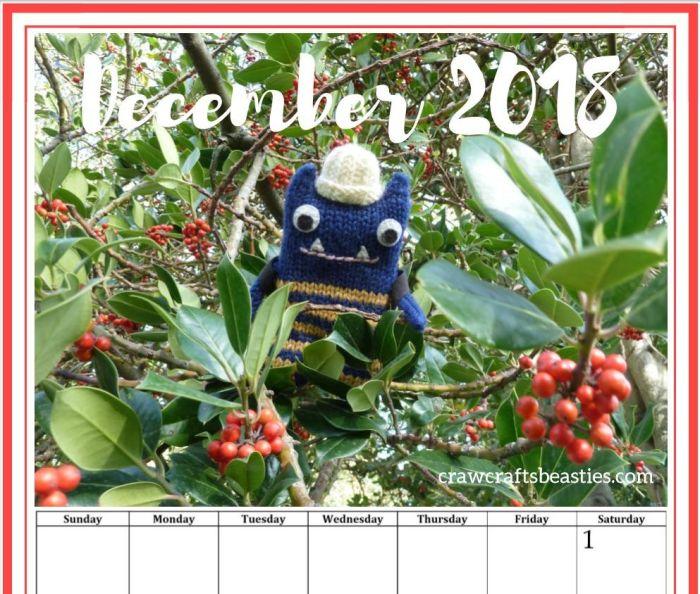 December View - Calendar Page - CrawCrafts Beasties