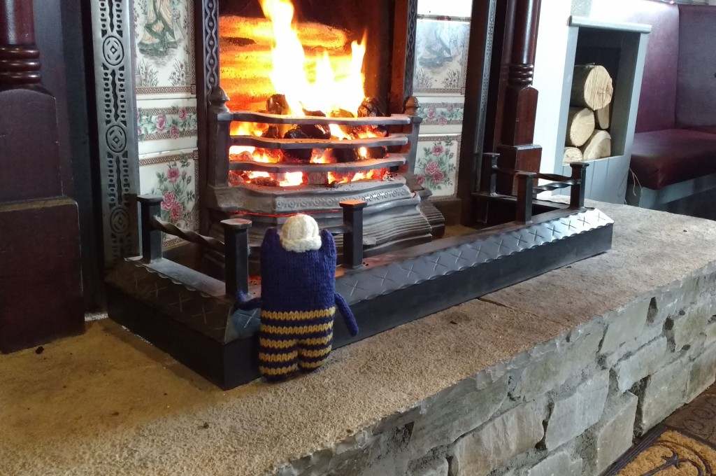 Warming up by the fire - CrawCrafts Beasties