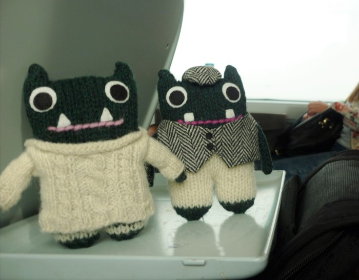 Paddy and Plunkett on the train - H Crawford/CrawCrafts Beasties