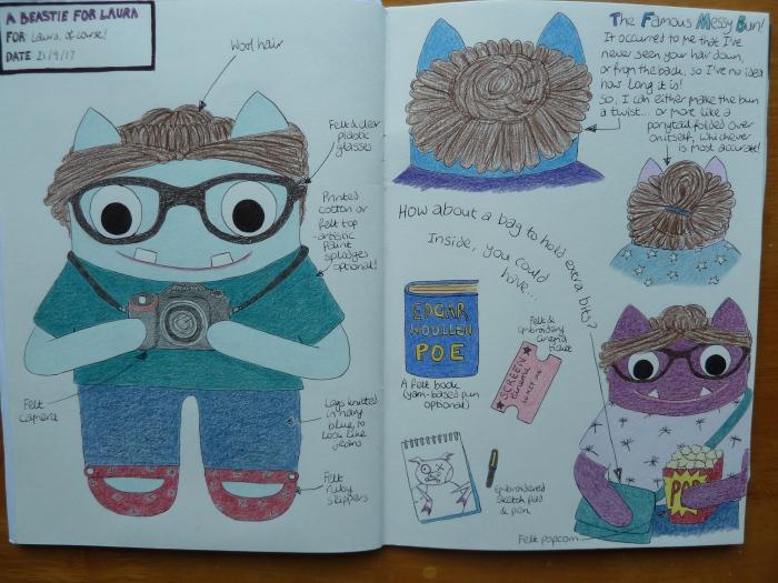 Beastie Sketchbook - A Design for Laura - CrawCrafts Beasties
