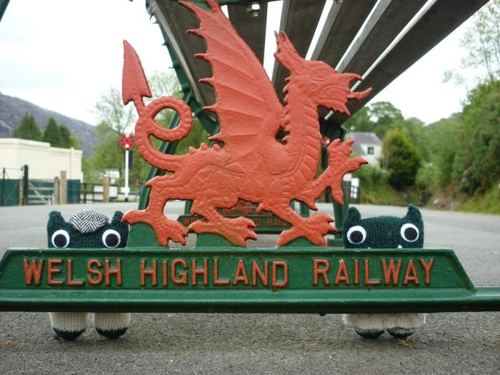 Beasties Meet Beastie on the Welsh Highland Railway - H Crawford/CrawCrafts Beasties