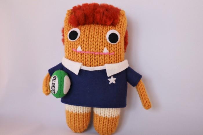 Rugby Beastie, Standing Tall - CrawCrafts Beasties