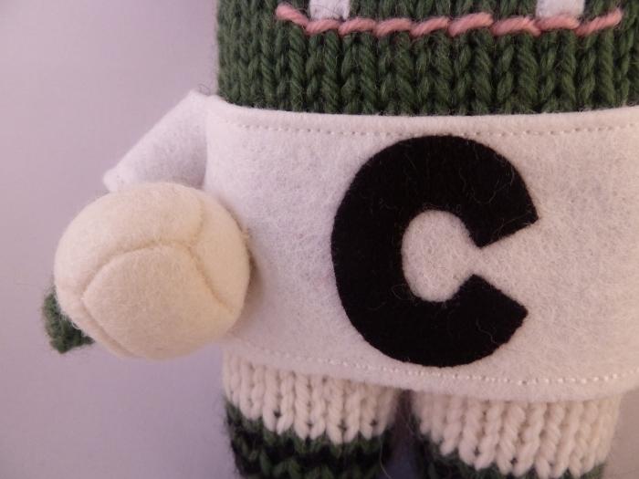 Miniature Felt GAA Football, by CrawCrafts Beasties