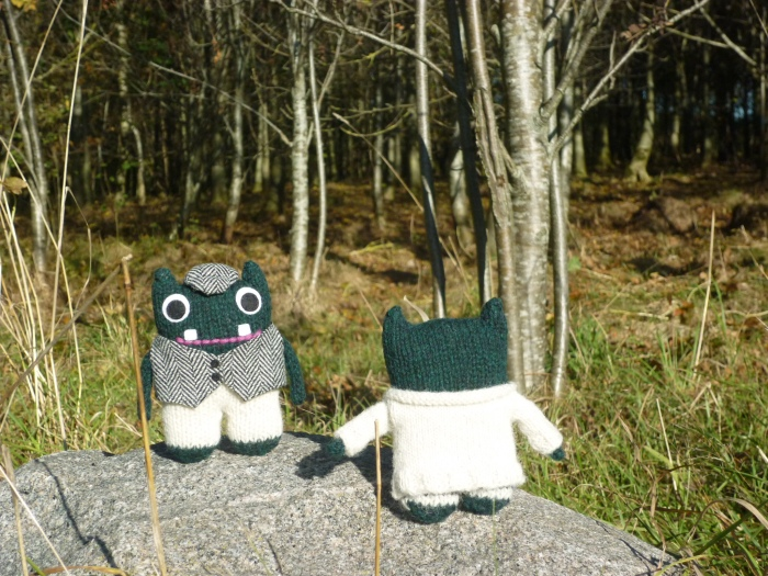 Paddy and Plunkett in the Woods - H Crawford/CrawCrafts Beasties