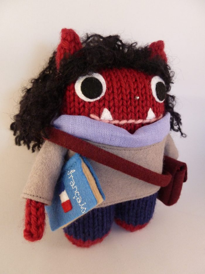 Translator Beastie, with her Accessories - CrawCrafts Beasties