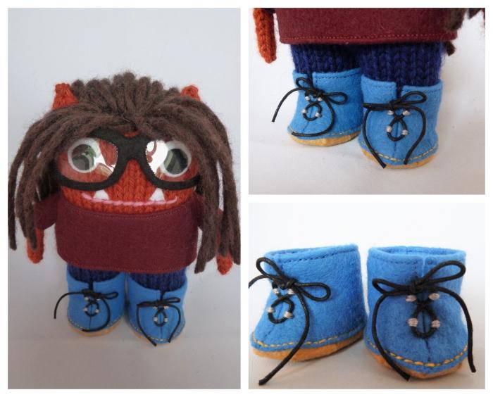 Beastie Boots, Handmade by CrawCrafts Beasties