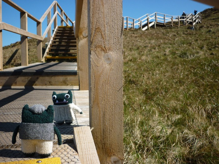 Paddy and Plunkett Climbing Cuilcagh Mountain - H Crawford/CrawCrafts Beasties